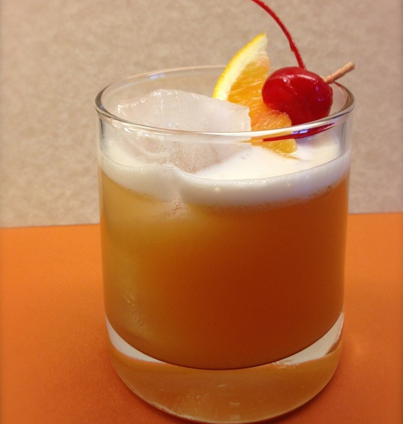 Bourbon adds a bit of vanilla sweetness to this Whiskey Sour